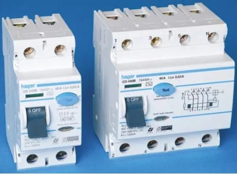 Hager 2 Pole Residual Current Circuit Breaker, 25a, 10ma