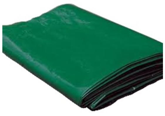 Heavy Duty Canvas Pvc 4m X 8m Green With Eyelets