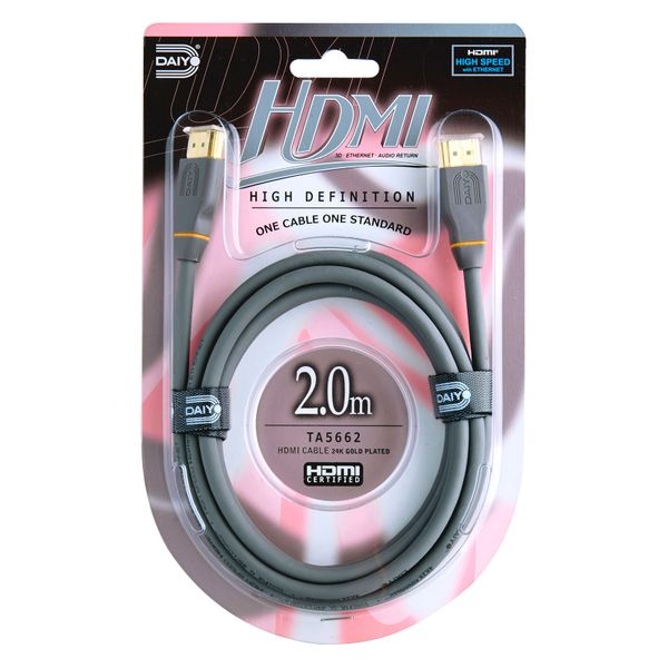 High Def. Hdmi 4k Cable With Ethern 2.0m
