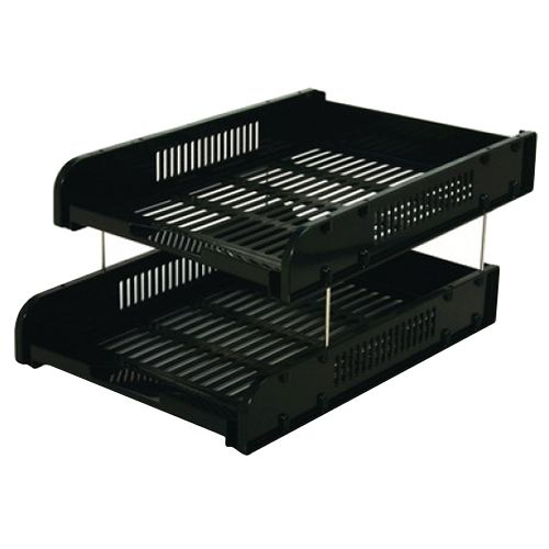 Hk 2 Tier Document Tray With Metal Riser
