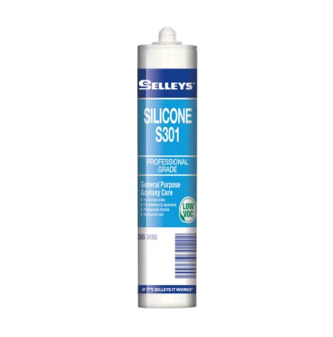 Selleys S301 Silicone Sealant (5 Tubes)