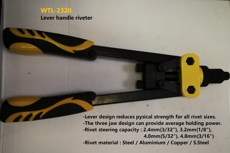 "WTL-2320 13"" 330MM WATELY LEVER HANDLE RIVETER"