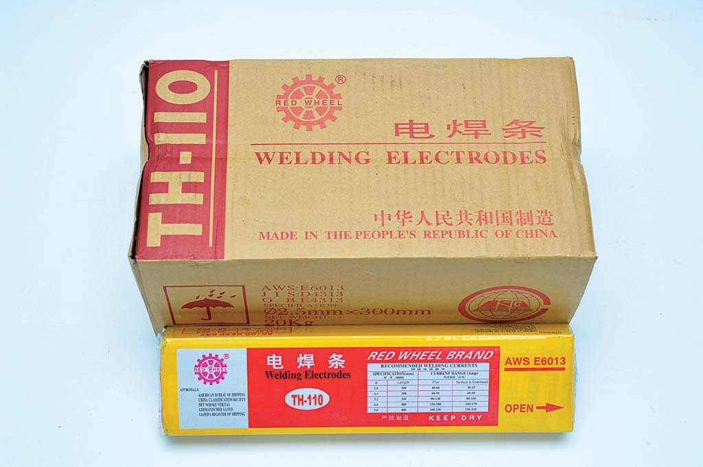 Red Wheel Welding Electrodes AWS E6013 TH-110