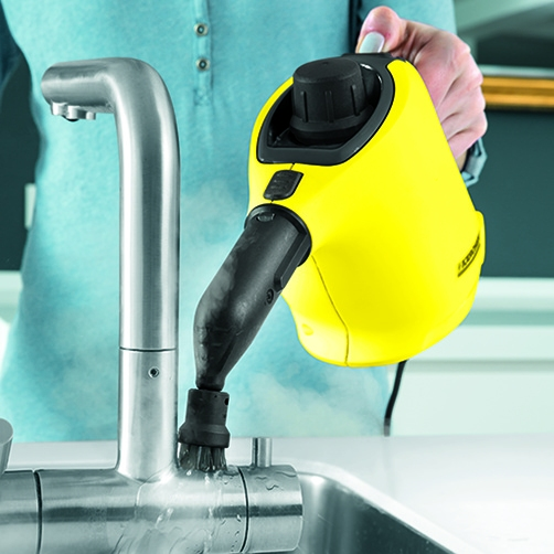 Powerful 3.0 bar steam pressure Easily removes all types of dirt - even in hard -to-reach areas.