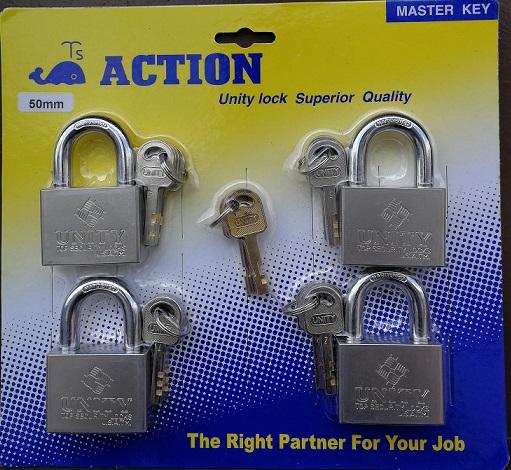 ACTION PREMIUM GRADE MASTER KEY PADLOCK MK504
