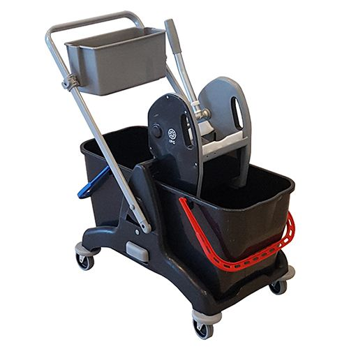 Kleanway 2p - Twin Bucket Trolley With Mop Wringer