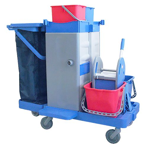 Kleanway Security E Janitorial Cleaning Trolley Without Bag