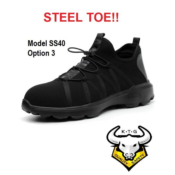 Ktg Steel Toe Sports Safety Work Shoes / Boots Model Ss40 - Option 3
