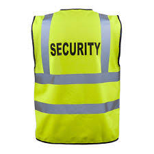 Green Safety Vest with Security Wording