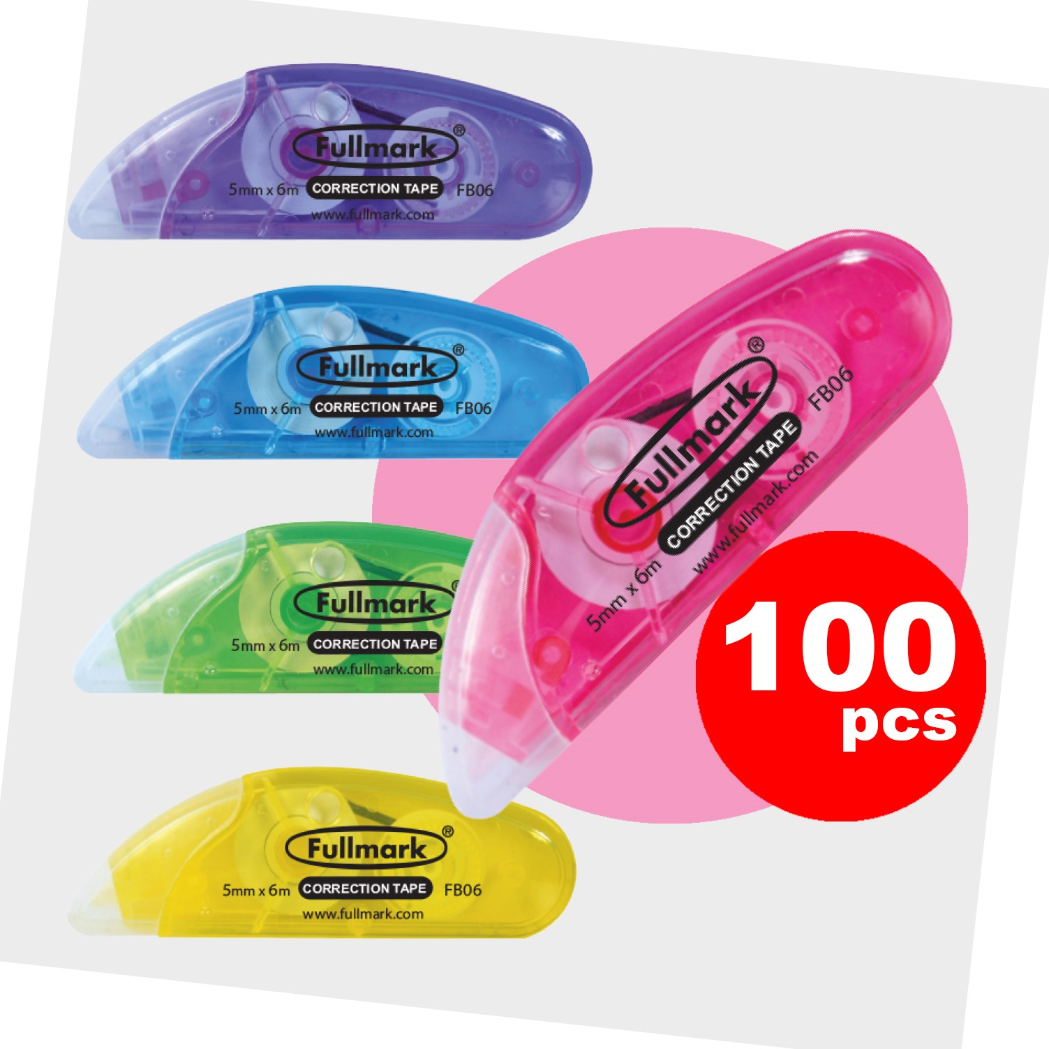 Fullmark Model B Correction Tape Gift Box 100pack - 5mm X 6m each