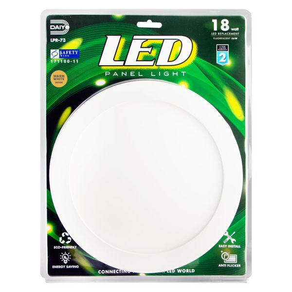 Led Panel Light / Round / 18w / 3000k