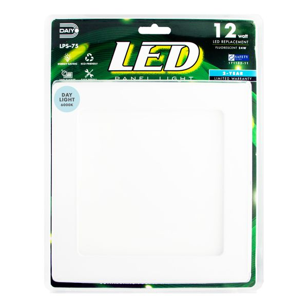 Led Panel Light / Square / 12w / 6000k