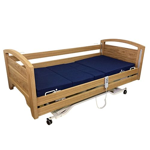 Lifeline Electric Wooden Hospital Bed With Mattress