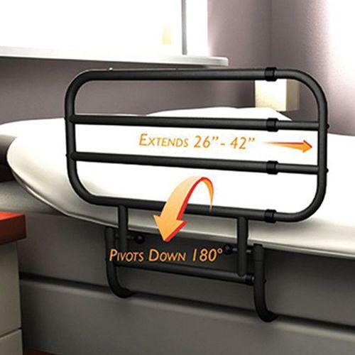 Lifeline Ez Adjustable Bed Rail Black 0251