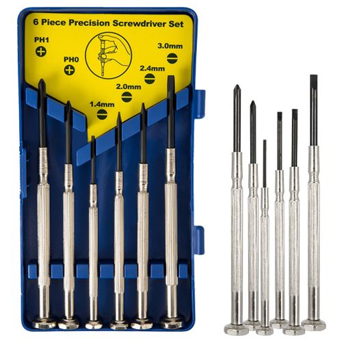 Light 6 Pcs Jewellery Screwdriver Set