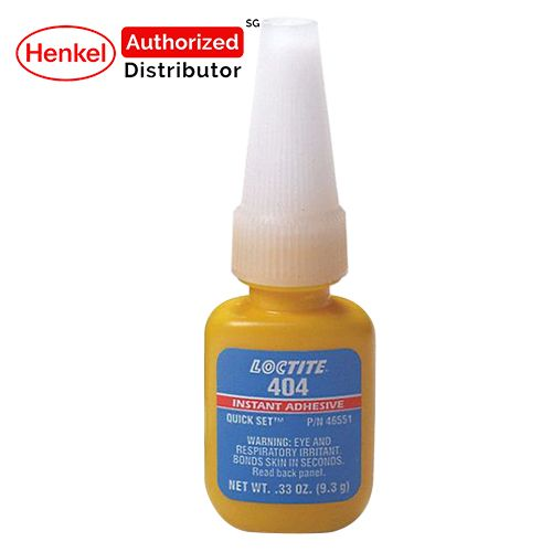 Loctite 404 Quick Set Instant Adhesive 9.3g Henkel Authorized Distributor