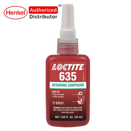 Loctite 635 High Strength Slow Cure Retaining Compound 50ml Henkel Authorized Distributor