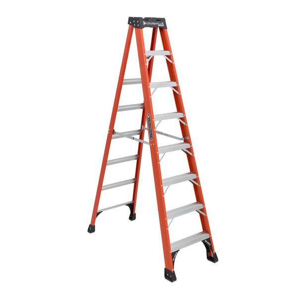 Louisville Hd Fibreglass Ladder 7 Steps 300 Lbs Fs1507