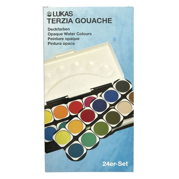 Lukas Terzia Plastic Box Watercolours (24 Colours)