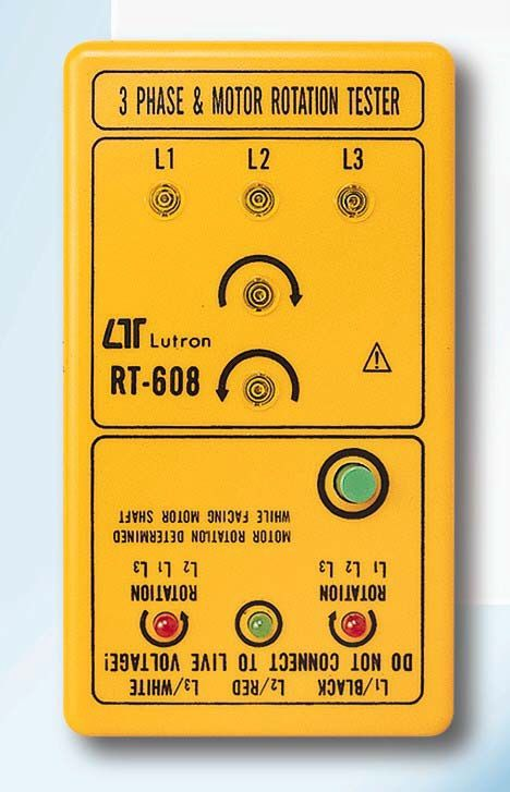 Lutron 3phase & Motor Rotation Meter RT-608