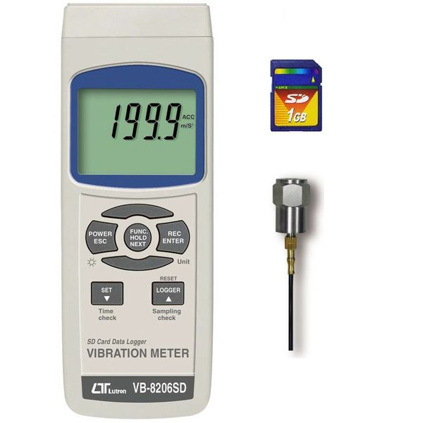 Lutron Sd Card, Real Time Data Logger, Vibration Meter VB-8206SD