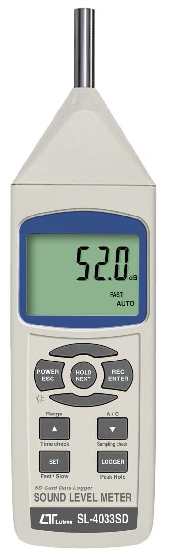 Lutron Sound Level Meter, Class 1 SL-4033SD