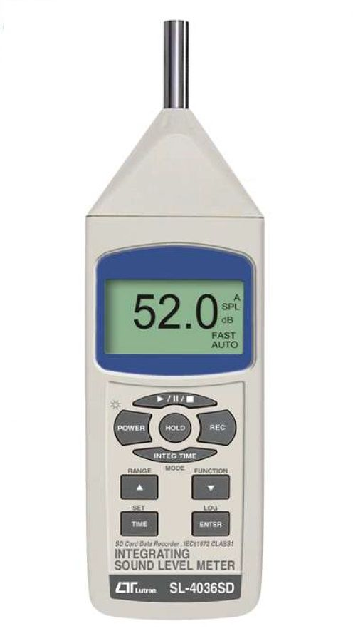 Lutron Sound Level Meter, Class 1 SL-4036SD