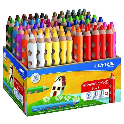 Lyra Groove Triple One Wooden Pencil - 72/pack 3832720