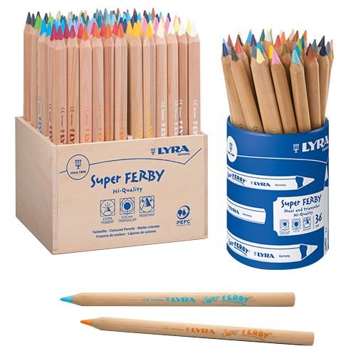 Lyra Super Ferby Colour Pencil School Pack Assorted - 96/pack 3712960