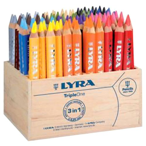 Lyra Tripleone Pencil Class Pack Assorted - 96/pack 3642960