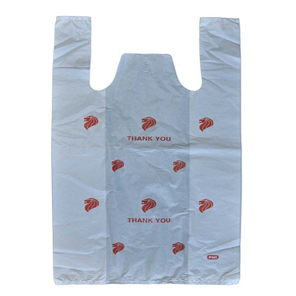 Medium White Plastic Bag With Print Value Pack
