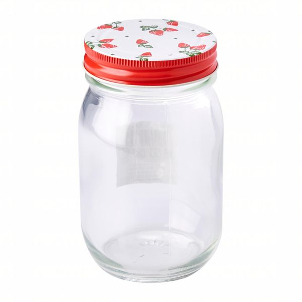Metal Cover Jar (red) 450ml
