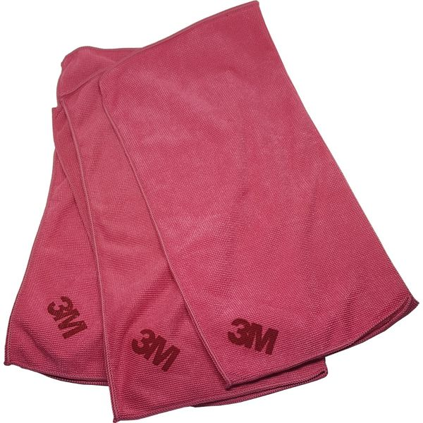Microfibre Cloth Sq21 Red 1ctn X 5bag X 10pc