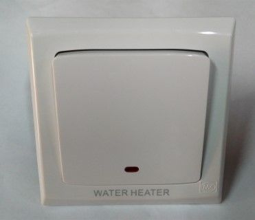 Mk Electric 20a Dp Sw Water Heater on Plate - S4787NWHSWHI