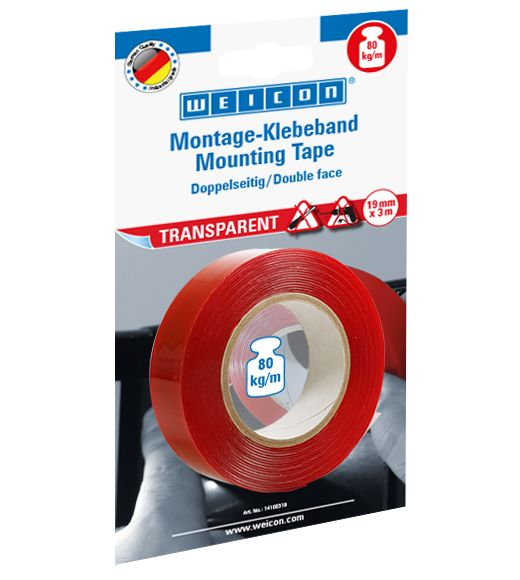Weicon Mounting Tape Transparent 3 M
