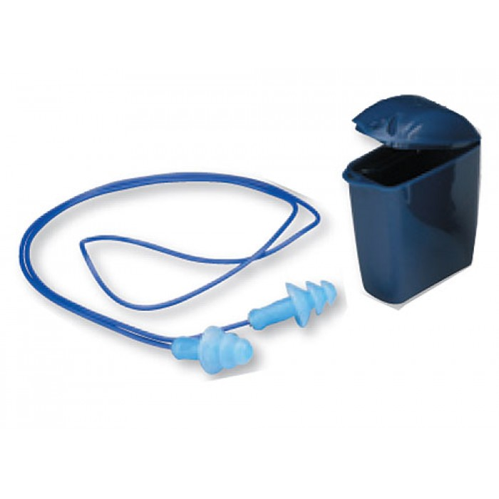 3M Reusable Corded Earplug Plastic with Carry Case 1293 (50 Pairs/Box)