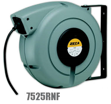 Zeca/Italy Retractable Cable Reel - 5 Conductors (Conductors section = 2.5mm², 400V, 10mtr+2mtr coiled cables)