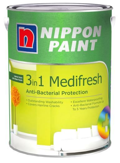 Nippon Paint - 3 in 1 Medifresh - 5 Litres [1294 Colours]