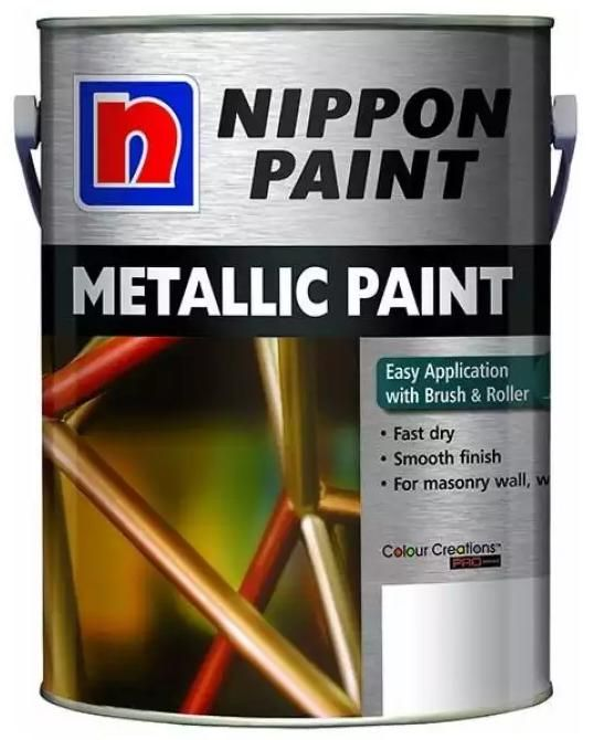 Nippon Paint - Metallic Paint - 5 Litres [30 Colours]