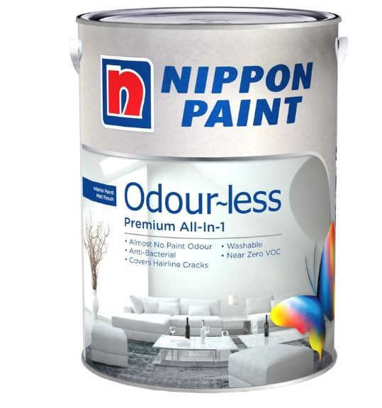 Nippon Paint - Odourless All in 1 - 5 Litres [1288 Colours]