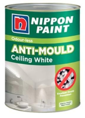 Nippon Paint - Odourless Anti Mould Ceiling White - 1 Litre