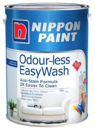 Nippon Paint - Odourless EasyWash - 5 Litres [1290 Colours]