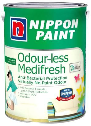 Nippon Paint - Odourless Medifresh - 1 Litre [1289 Colours]
