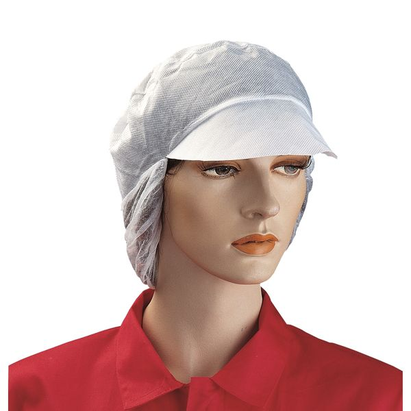 Non-woven Disposable Work Cap W/snood