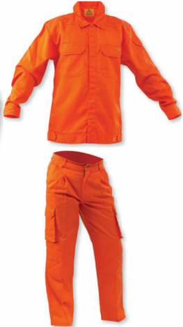 Nomex Fire Retardant Jacket and Pant Orange