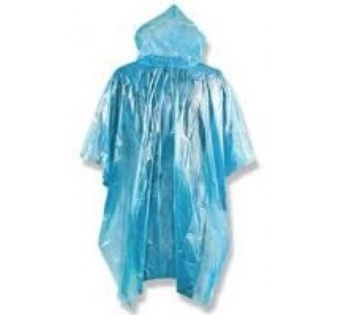 Accsafe Disposable Rain Poncho With Hood