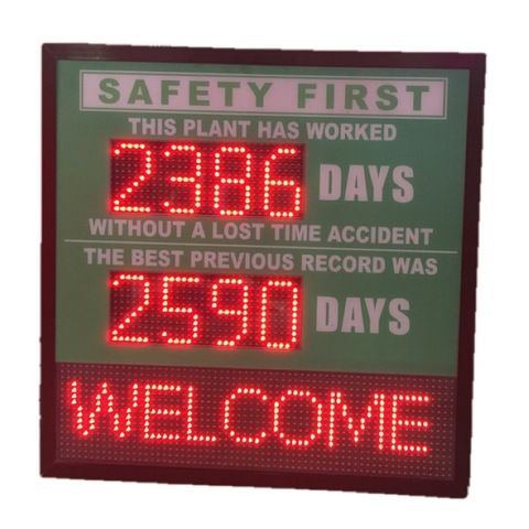 Occupational Safety Led Scoreboard