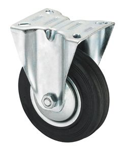 Oem Industrial Black Rubber Caster Wheel, Rigid