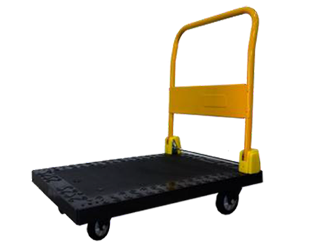 Orex Plastic Trolley 300kg Black/yellow