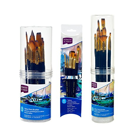 Derwent Academy Taklon Paint Brushes